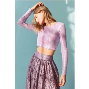 Urban Outfitters Out From Under Sequin Crop Top